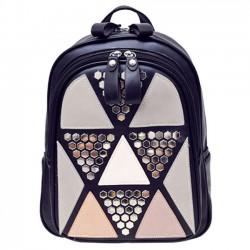 École de mode des filles épissure triangles épines sac à dos sac à dos loisirs rivet