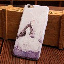 Charmant Esthétique Filles Série Le soulagement Silicone Cas d'Iphone doux Pour 6 / 6Plus