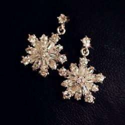 Winky Zircon Cristal Boucles d'oreilles Flocon de neige
