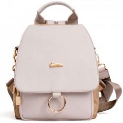 Elegant Lady Multi-function Shoulder Bag Ring PU Backpack