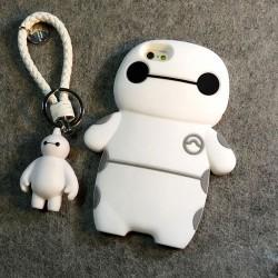 Mignon Fatty Robot Pendentif Silicone IPhone 4S / 5 / 5s / 6 / 6p / 6s / 6sp Cas