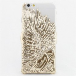 Mode Le soulagement l'ange Ailes Solide IPhone 6 / 6plus Cas