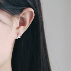 Silver Silver Mermaid Fish Tail Women boucles d'oreilles