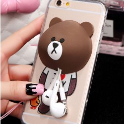 Ours Lapin Lapin Silicone Remontoir Mignon IPhone 5 / 5s / 6 / 6p Cases