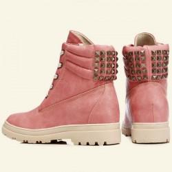 Hauteur En augmentant Chaussures Rivet Cuir Neige Bottes