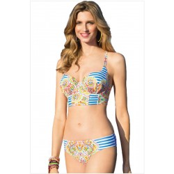 Stripes Print Bikinis Set totem Swimwear Beach Bathing Suit