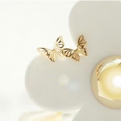 Boucles d'oreilles papillon mignons animaux évider boucles d'oreille en argent