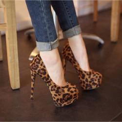 Sexy Léopard super À haut talon Chaussures