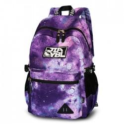 Sac à dos université de voyage de polyester d'universités de grand sac à dos coloré d'école de galaxie