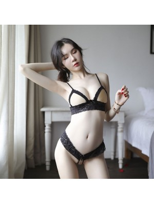 Sexy Lace Bra Set Underwear Open Nipple Design Intimate Women's Lingerie
