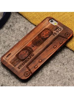 Cassette audio Crowne Pirates Brut Bois Mince Cas Pour IPhone 5 / 5S / 6/6 Plus