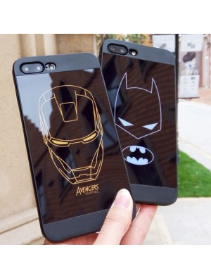 Bande dessinée unique noire Batman Iron Man Hero Iphone 6 / 6s / 6 plus / 6s plus / 7 / 7plus Iphone X