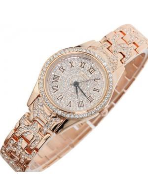 Haut de gamme Le luxe Bling faux diamant Quartz Regardez