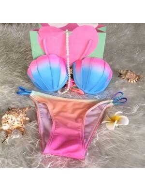 Tie-dyed Bikini Fantasy Shell Gradient Swimsuit Swimwear