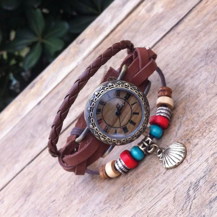 Original Emballage Corde Cuir Bracelet Regardez