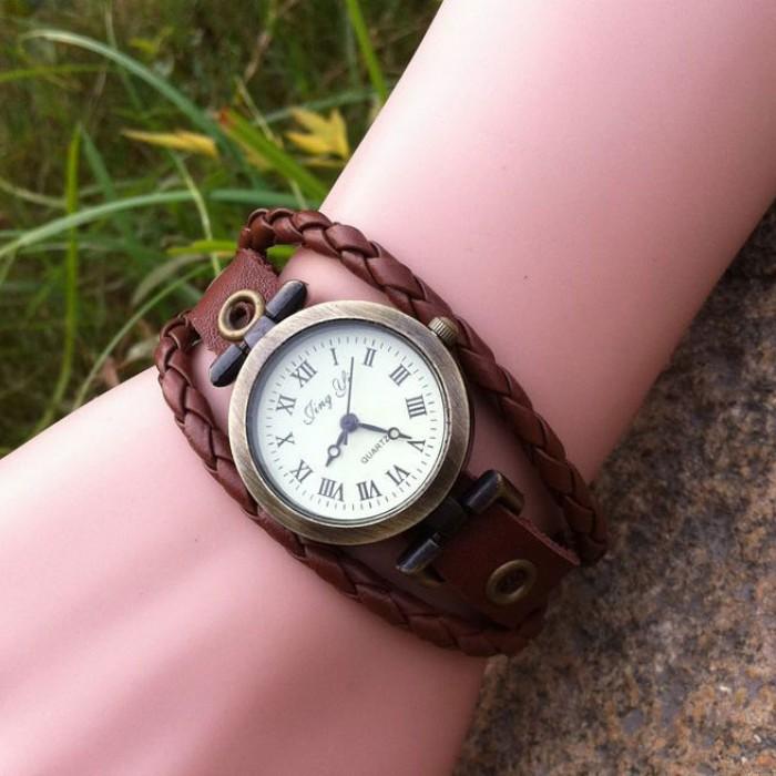 Bracelet en Cuir Rope Classique Regardez