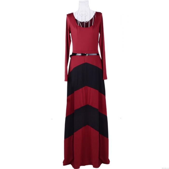 Mode Sexy Géométrique Couleur Long Robes