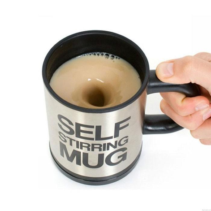 Creative Stainless Steel  Lids Electric Coffee Mug Cup