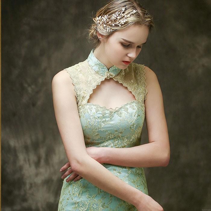 Branche d'arbre frais laisse perle mariage bande de cheveux accessoires de cheveux de mariée