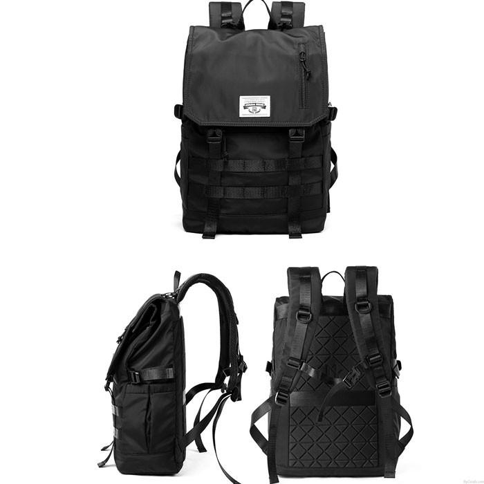 Loisirs grand ordinateur sac à dos collège lycée sac noir étanche Double boucle étudiant sac à dos