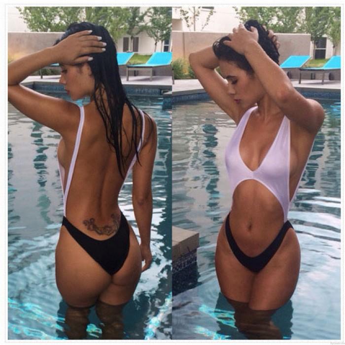 One-piece Sexy Bikinis Set Midriffs Halter Swimwear Beach Bathing Suit