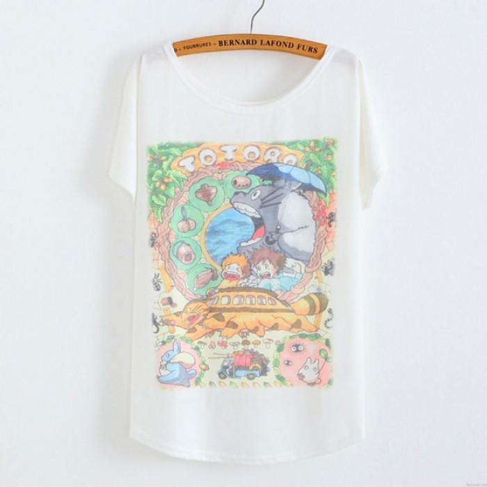 My Neighbor Totoro Animal Printed Cotton T-Shirt