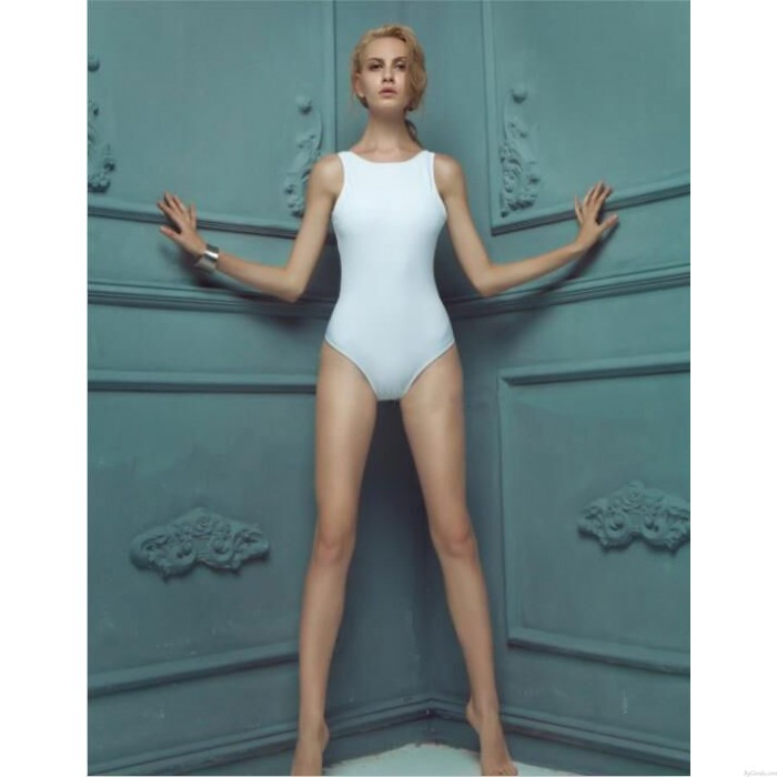 Retro Pure Slim Gather Halter Sexy Swimsuit