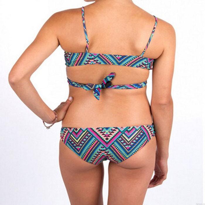 Irregular Totem Women Bikinis Summer Swimsuit Bandage Bathing Suit