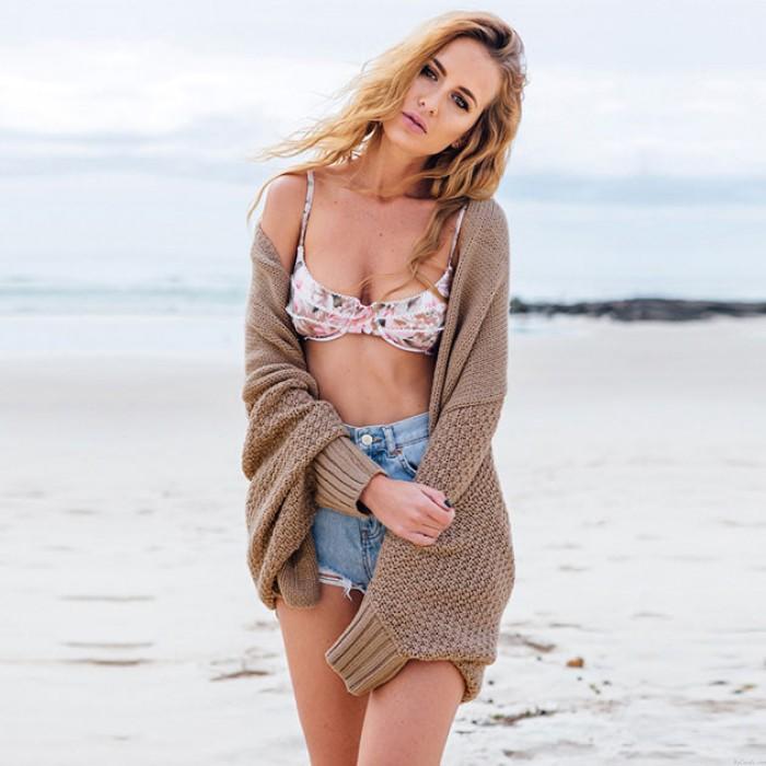 Manteau de chandail de la mode batwing long cardigan pull oversize tricot