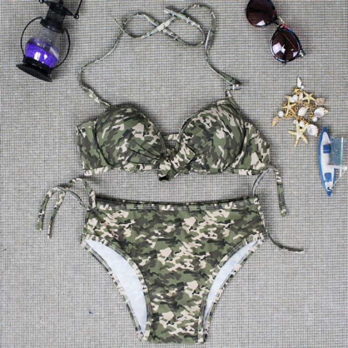 Innovation Camouflage Swimsuit Sexy Athlete Bikini Swimwear Bathingsuit