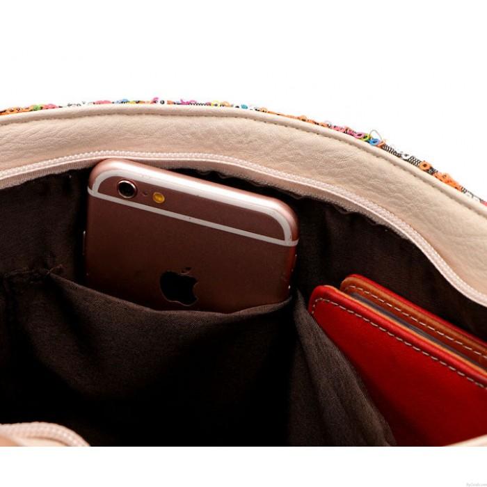 Sac à bandoulière brillant sac à bandoulière géométrique style messager Messenger