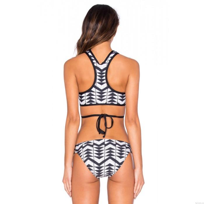 Sexy Bandage Swimsuit Geometry Bikini Set Swimwear