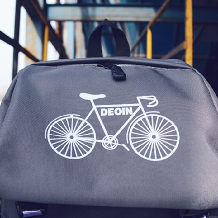 Sac à dos en toile de loisirs de sac de voyage d'étudiant de bicyclette d'araignée de couleur de loisirs