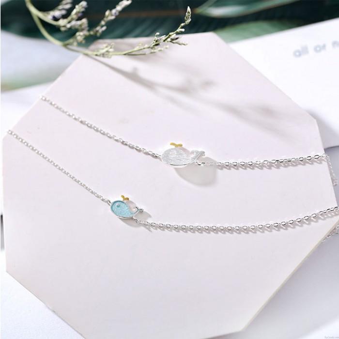 Cute Dolphin Love Token Romantic Girl Friend Cadeau Femmes Bracelet Petite Baleine Bracelet En Argent