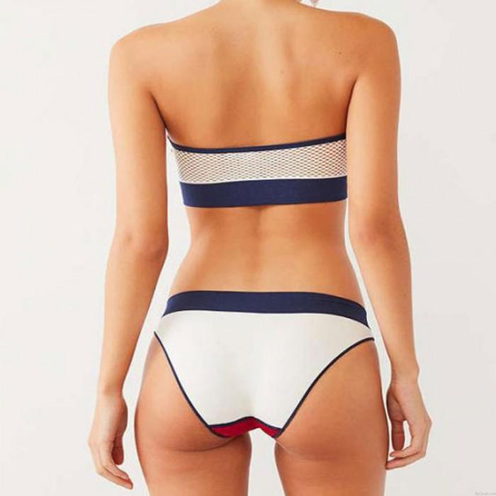 Maillot De Bain Sexy Bikini Couleur Blanc / Blanc