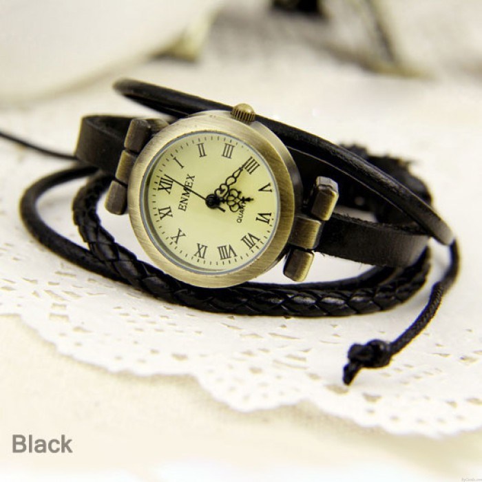 Personality punk multi-Leather Strap watch