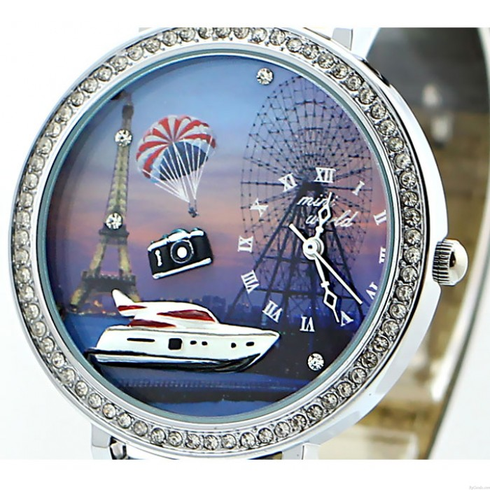 Yacht Eiffel La tour Ferris La roue faux diamant Réduire Regardez