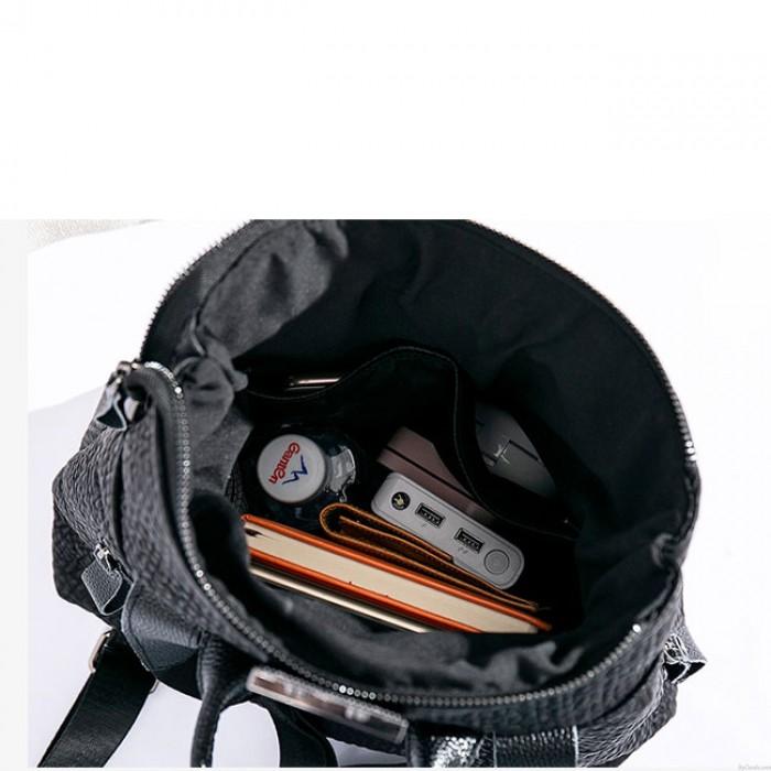 Motif de crocodile de loisirs flash rayure noir grand sac à dos scolaire en cuir