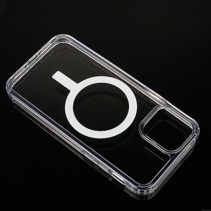 Nouvelle coque magnétique transparente anti-chute Magsafe pour iPhone 12 Pro Max