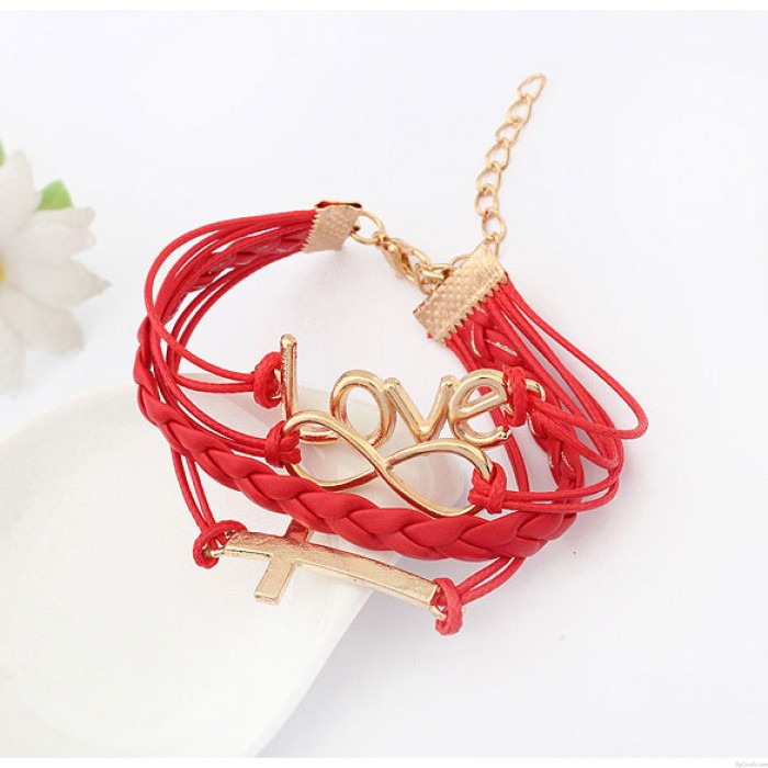 Bracelet Mot de passe romantique Love Cross Infinity