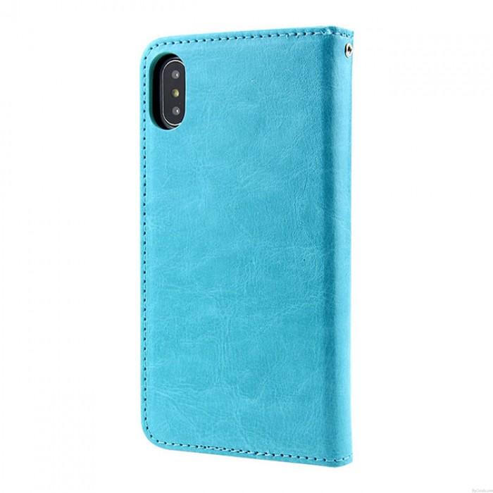 Mode Iphonex Fou Cheval Modèle Multi-fonction Flip Portefeuille Mobile Téléphone Cuir Cas