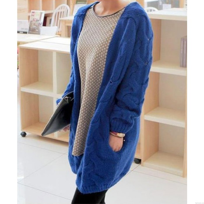 New Vintage Twist Fluorescent  Loose Sweater &Cardigan