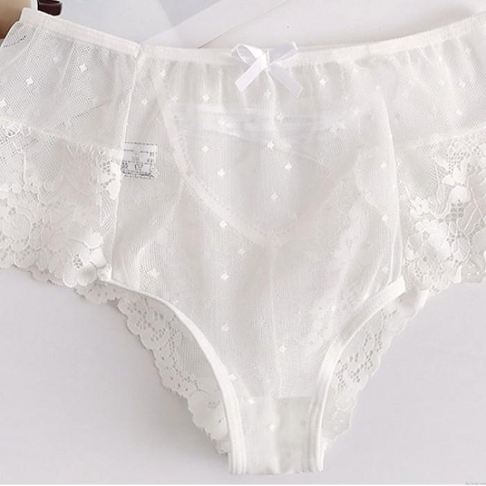 Culotte en dentelle taille haute sexy sous-vêtements creux Bundle de femmes Lingerie