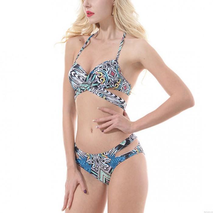 Bikini de maillot de bain coloré pour sling de femmes