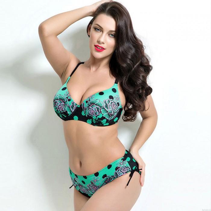 Maillot de bain sexy de grande taille bikini 2 pièces plage femmes