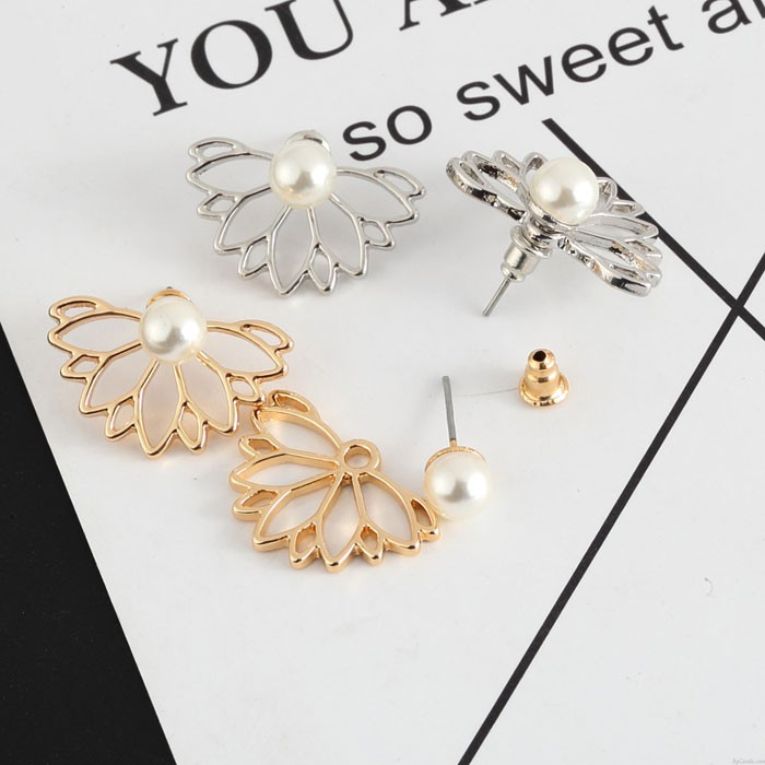 Boucles d'oreilles mignonnes perles Lotus Girls