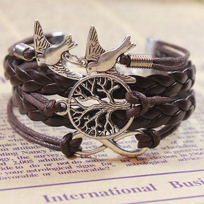 Bracelet infini de pigeons d'arbres Life