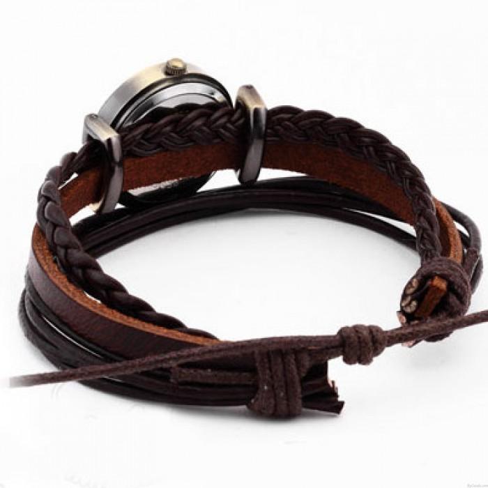 Gentiana Rope Weave Retro Bracelet Watch