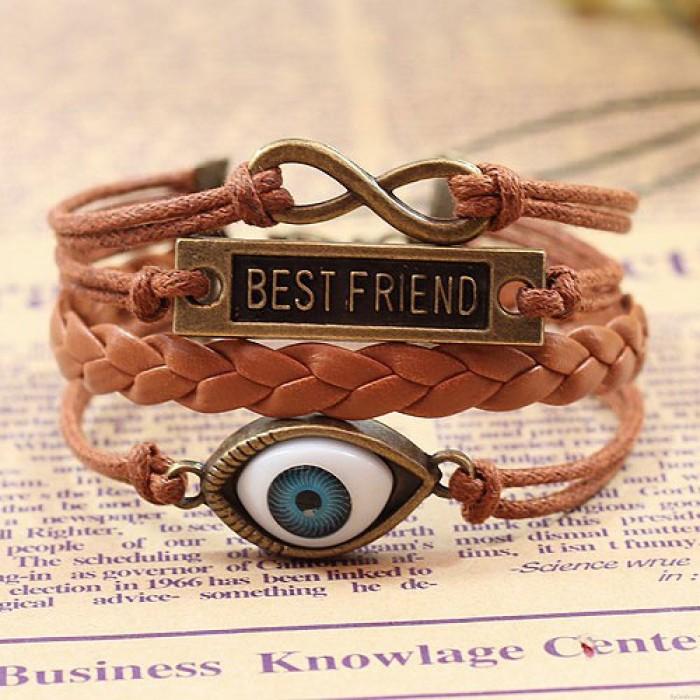 Bracelet de corde Best Friend Eye Infinity