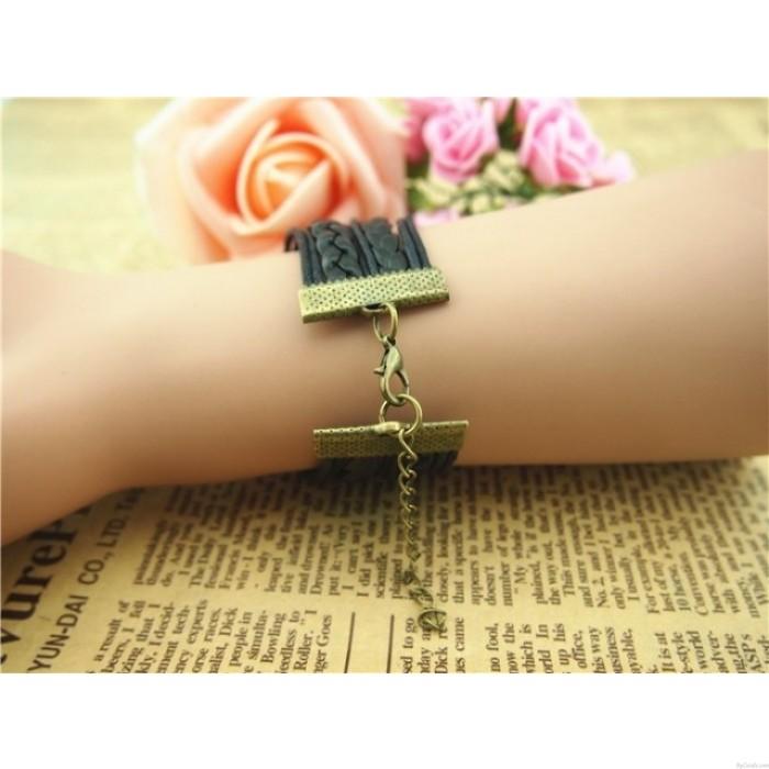 Bracelet infini d'amour tressé d'ancre d'amour